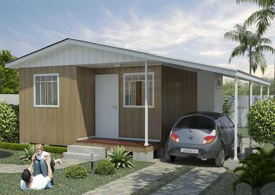 casa de madeira pré-fabricada roma