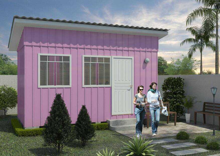 casa pré-fabricada de madeira chamonix