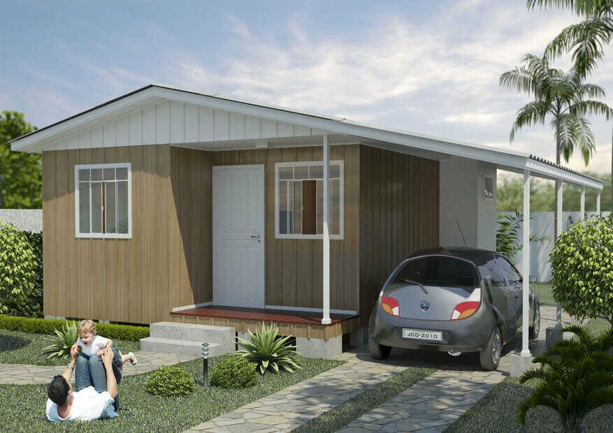 casa pré-fabricada de madeira roma