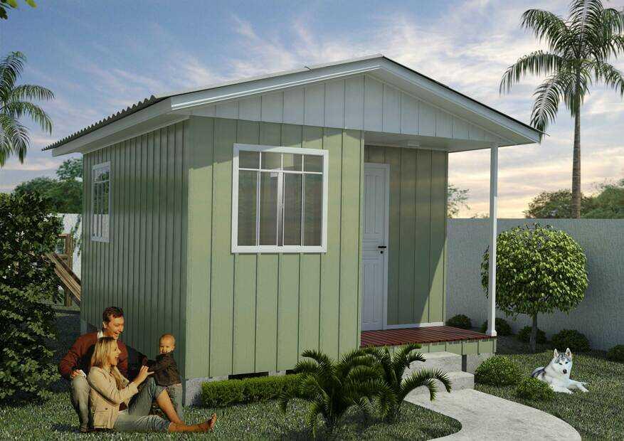 casa de madeira pequena super obra