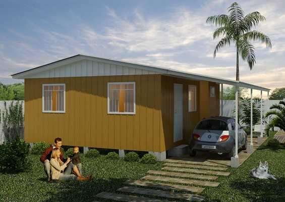 desenho casa de madeira pré-fabricada
